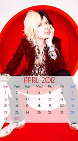 待受カレンダー 2012年4月 yu-ta