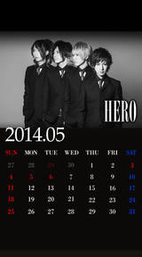 待受カレンダー 2014年5月(モノクロ)