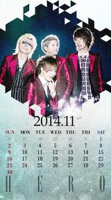 待受カレンダー 2014年11月
