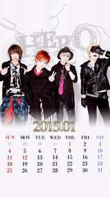 待受カレンダー 2015年1月(ver,1)