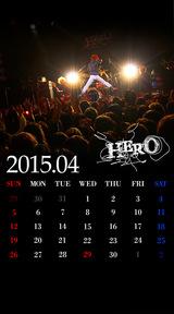 待受カレンダー 2015年4月(ver,2)