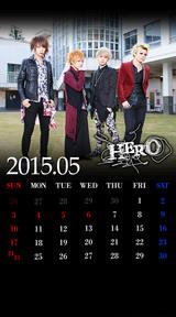 待受カレンダー 2015年5月(ver,2)