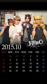 待受カレンダー 2015年10月(ver,2)