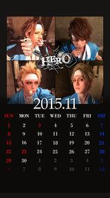 待受カレンダー 2015年11月(ver,1)
