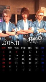 待受カレンダー 2015年11月(ver,2)