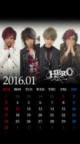 待受カレンダー 2016年1月(ver,1)