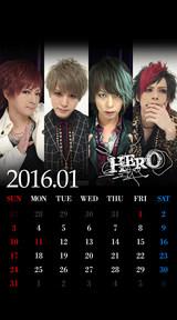 待受カレンダー 2016年1月(ver,2)