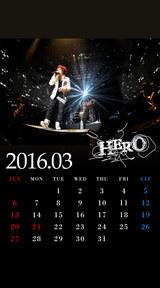 待受カレンダー 2016年3月(ver,1)