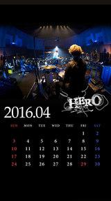 待受カレンダー 2016年4月(ver,1)