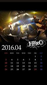 待受カレンダー 2016年4月(ver,2)
