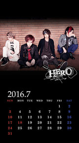 待受カレンダー 2016年7月(ver,1)