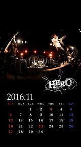 待受カレンダー 2016年11月(ver,1)