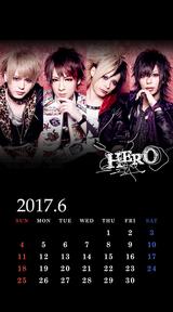 待受カレンダー 2017年6月