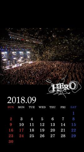 待受カレンダー 2018年9月